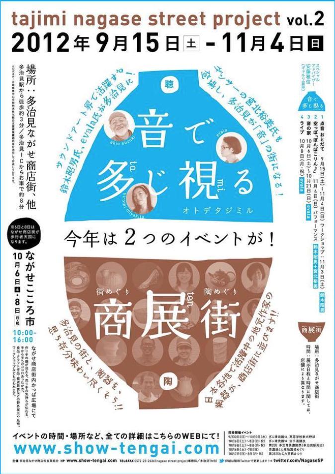 tajimi nagase street project vol.2「音で多じ視る/商展街」