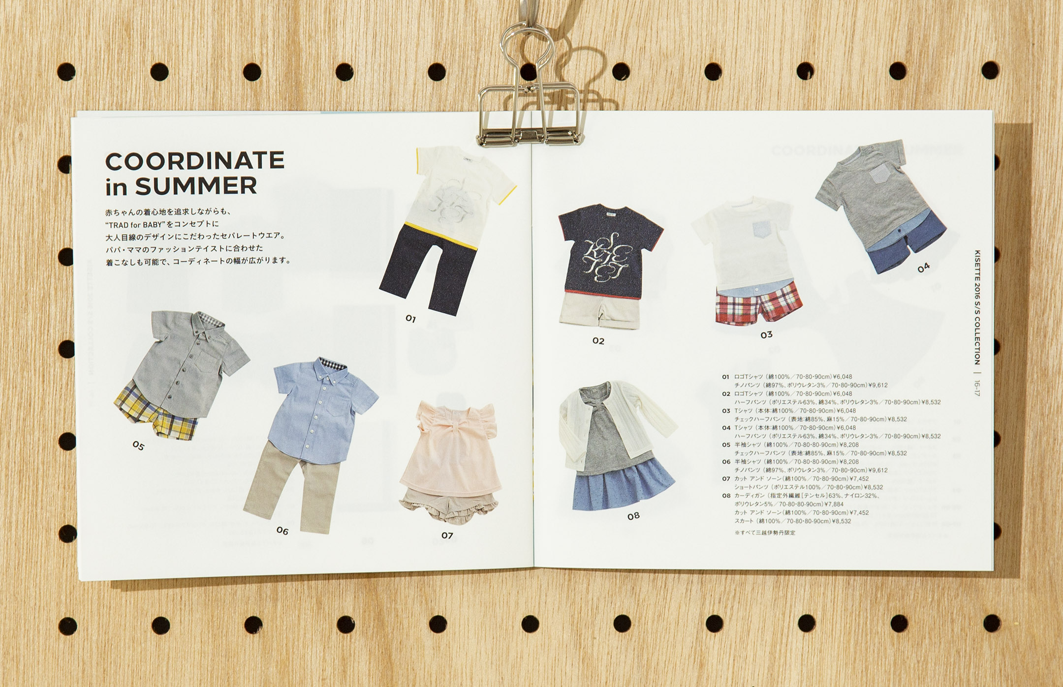 soda design KISETTE WEAR for BABY